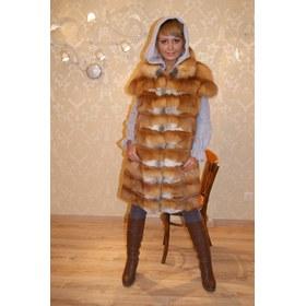 Пошив шубы из меха лисы (трикотажные рукава и капюшон) (интернет-ателье) .